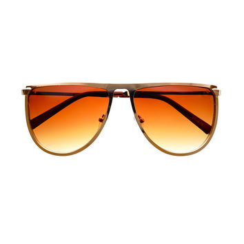 Designer Fashion Style Square Metal Flat Top Sunglasses Shades FT80