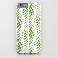 Herringbone Green Nature Pattern iPhone & iPod Case by Maioriz Home