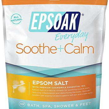Epsoak Epsom Salt | 2 lb. Soothe + Calm - For Bath, Spa, Shower & Feet (Everyday Epsom Salts)