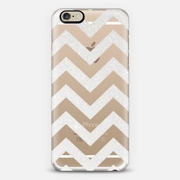 TIFFANY SILVER CHEVRON TRANSPARENT iPhone 6 case by Monika Strigel | Casetify