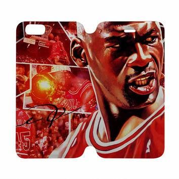 MICHAEL JORDAN Case Wallet iPhone 4/4S 5/5S 5C 6 Plus Samsung Galaxy S4 S5 S6 Edge Not