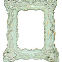 Antiqued Mint French Chic Frame