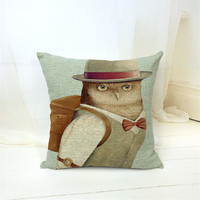 MYJ 1PCS/Lot Cartoon Printed Linen Cushion For  Throw Pillow Chair Car Seat Pillow print your name