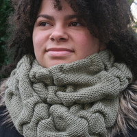 Womens Knitted Infinity Scarf, Long Circular Scarf, Gift for Her, READY TO SHIP!