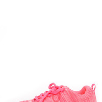 Training Days Neon Pink Sneakers