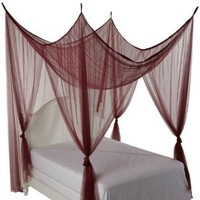 Heavenly 4 Post Bed Canopy, Burgundy