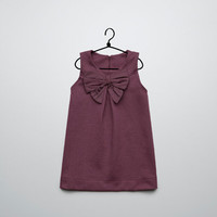 ponte di roma knit dress with bow - Collection - Baby girl (3-36 months) - Kids - ZARA United States