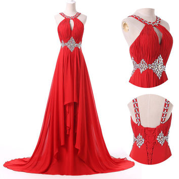 2015 Sexy Evening Party Ball Prom Gown Formal Bridesmaid Cocktail Dress WEDDING