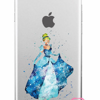 Cinderella Disney Clear Soft iPhone Case 5,5s,SE,6,6S,6+,7,7+