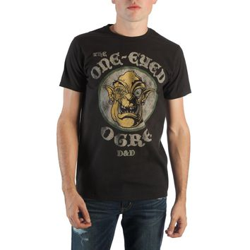 Dungeons and Dragons One-Eyed Ogre Men's Black Tee Shirt T-Shirt - RPG Role-Playing Game Dungeons & Dragons