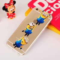 Newest Yellow Minions For iphone 6 Case Fashion Despicable Me Hard Phone Cases Cover Capas Coque Para For Apple iPhone6 6 Plus