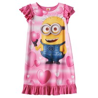 Despicable Me Minion in Love Dorm Nightgown - Girls, Size: