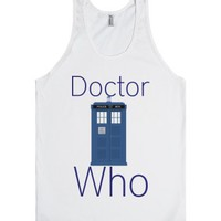 Doctor Who-Unisex White Tank