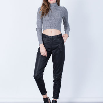 Leather Trouser Pants
