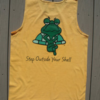 Original Naked Turtle design tank top