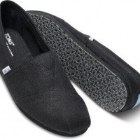 TOMS Vegan Classics Earthwise Black Slip-on Men's Shoes,