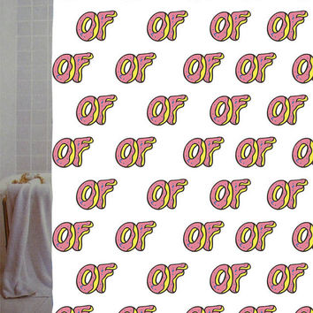 "of donut parody Custom Shower Curtain available size 66"" x 72"", 60"" x 72"",48"" x 72"""