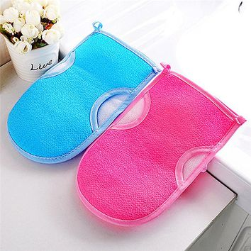 Tenske bath gloves 1pcs Exfoliating Bath Gloves Shower Body Massage Thickened Double-sided Sponge Bath Brushes*30 Drop shipping