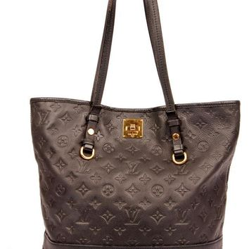 Louis Vuitton Navy Blue Leather Empreinte Citadine Tote 5505