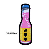 Soda Ramune Embroidered Patch for Sewing Japanese Tokyo Harajuku Pop Kawaii