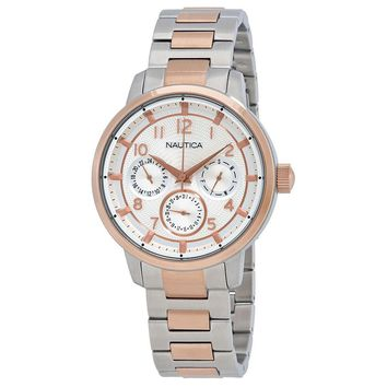 Nautica NCT 15 Mens Two Tone Multifunction Watch NAD19556G