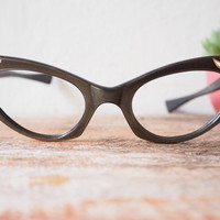 Vintage Cat Eye Eyeglass made in France with Spinning Moons. 1960's era