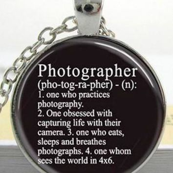 GLASS PHOTO PENDANT CAMERA LENS NECKLACE - PFNECKLACEC