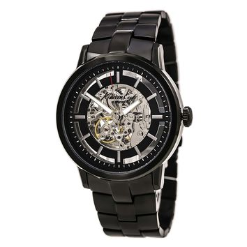 Kenneth Cole KC3981 Men's Black Ion Plated Skeleton Dial Automatic Watch