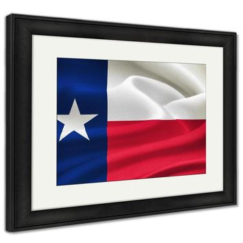 Framed Print, Flag Of The State Of Texas