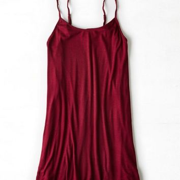 AEO Women's Ribbed Hi-lo Dress