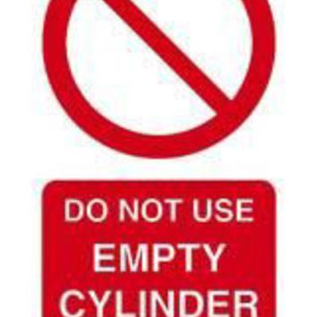 Tie tag, Do not use empty cylinder - Pack of 10