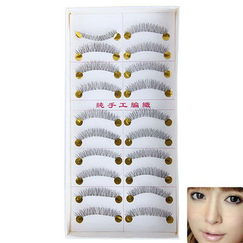 New Arrival 10 PCS Hand-made Fake Eyelash in Black