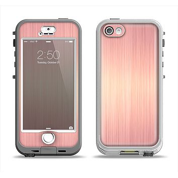 The Rose Gold Brushed Surface Apple iPhone 5-5s LifeProof Nuud Case Skin Set
