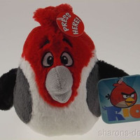 Angry Birds Rio Pedro Plush Bird Sounds Red White Gray Commonwealth Toys Stuffed