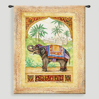 Old World Elephant ll Tapestry Wall Hanging - World Market