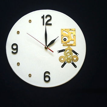 Wall Clock Steampunk Girl, unique gift, cool wall clocks, geekery wall clocks, steampunk wall clocks, unique wall clocks, modern wall clocks