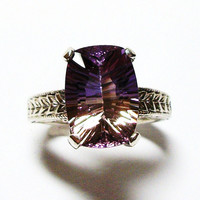 "Ametrine ring, solitaire ring,  s 7 ""Circle of Love"""