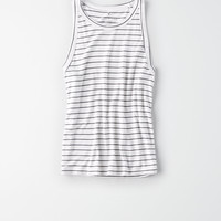 AE Soft & Sexy High Neck Tank, White