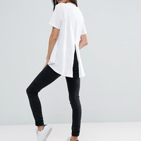 ASOS Dip Split Back Update T-Shirt at asos.com