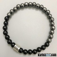 Zodiac Collection: Black Onyx | Hematite | Yoga Chakra Bracelet
