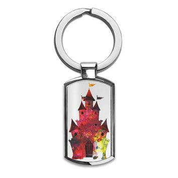 Princess Castle Premium Stainless Steel Key Ring| Enjoy A Unique  & Personalized Key Hanger To Carry Your Keys W/ Style| Custom Quality Prints| Household Souvenirs By Styleart