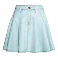 H&M - Denim Skirt - Light denim blue - Ladies