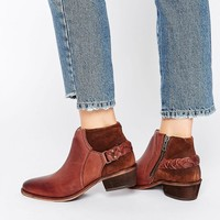 Hudson London | Hudson London Brown Leather Traid Ankle Boot at ASOS