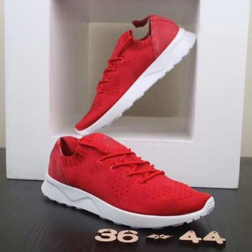 Adidas ZX Flux ADV Virtue. White & Red Unisex Running Shoes Sneakers