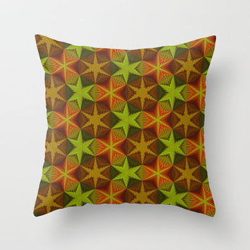 Fall Color Pattern Throw Pillow by Lyle Hatch | Society6