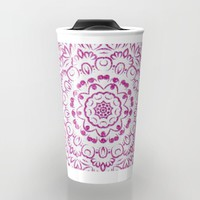 A Glittering Colorful Mandala 2 Travel Mug by Octavia Soldani | Society6
