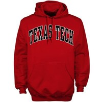 Texas Tech Red Raiders Red Bold Arch Pullover Hoodie Sweatshirt