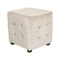 Wake Up Frankie - Velveteen Tufted Ottoman : Teen Bedding, Pink Bedding, Dorm Bedding, Teen Comforters