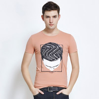 Stylish Strong Character Print Fashion Short Sleeve Round-neck Cotton T-shirts