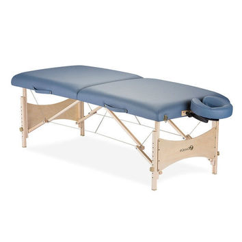 Agate Blue Portable Massage Table with Headrest and Carry Case